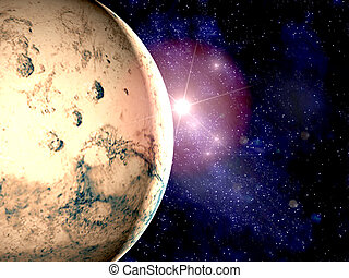 mars - A view of planet Mars