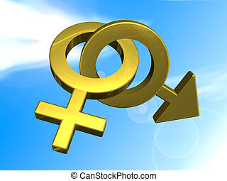 sex symbols - male and female sex symbols