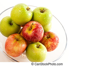 A bowl of apples