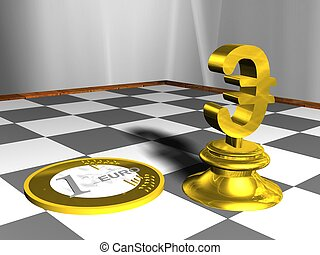 Chessboard with Euro