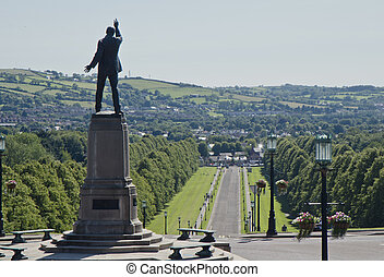 Lord Carson statue at Stormont - Northern Irelands...