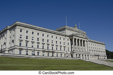 Stormont Parliament Building, Belfast, Northern Ireland -...