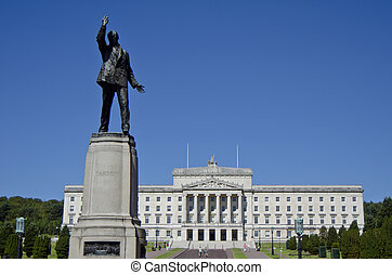 Lord Carson statue Stormont Parliament Building - Northern...