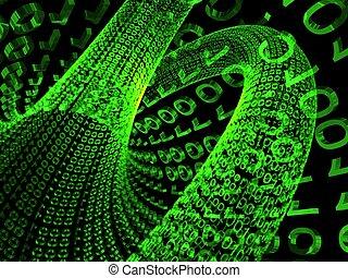 NUMBER  - 3d illustration digital NUMBER