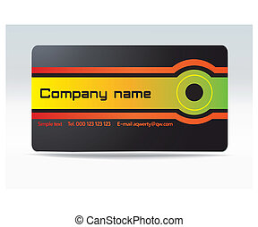vector business visit card - Color drawing basics for making...