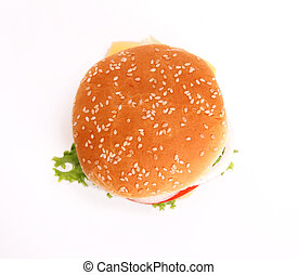 hamburger overhead - hamburger with...