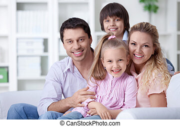 Family home - Happy family with children at home
