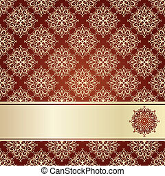 vector seamless vintage pattern with frame for your text
