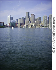 Boston Harbor Skyline - Skyline of Boston Harbor coming in...