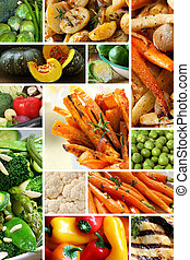 Vegetables Collage - Collage of healthy vegetables images....
