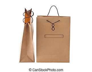 paper shopping bags - two view of the paper shopping bags...