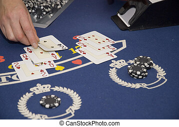 Black jack being dealt