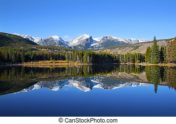 Sprague Lake view in Rocky Mountains National Park - Otis,...
