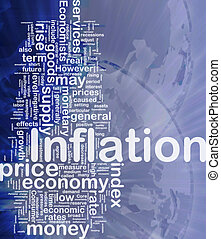 Inflation background concept - Background concept wordcloud...