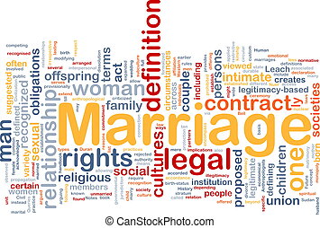 Marriage background concept - Background concept wordcloud...