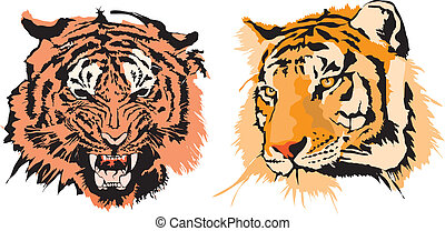 Two tigers made in EPS