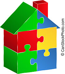 House made of puzzle pieces