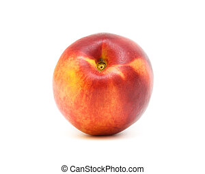 a nectarine isolated on a white background - a nectarine...