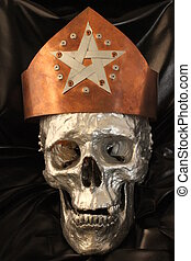 crown - A copper crown with a pentagram on a silver skull