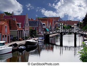 Little town in Friesland - Small town in Friesland....