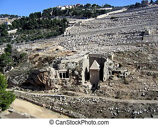 Tomb of Absalom. Jerusalem - Tomb of Absalom (Yad Avshalom),...