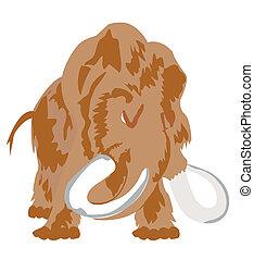 Prehistorical, zwierzę, Mamut