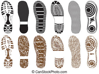 Illustration set of footprint - Vector illustration set of...