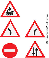 Road signs made in EPS