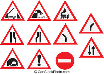 Road signs - Road Signs made in EPS