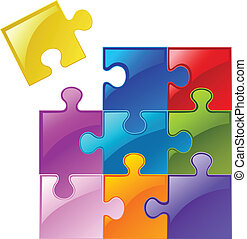 Puzzle pieces - Colorful puzzle