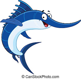 Swordfish - Cartoon swordfish