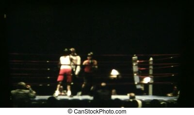 Vintage Boxing Slow Motion - Amateur boxing filmed with...