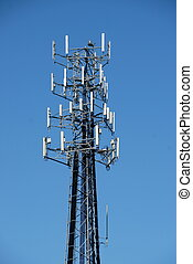 microwave tower - mobile phone tower in rural georgia usa