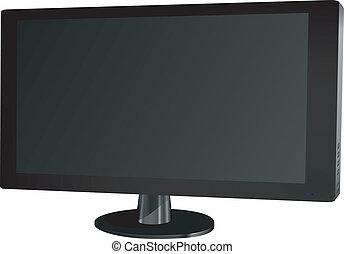 vector illustration of a plasma TV