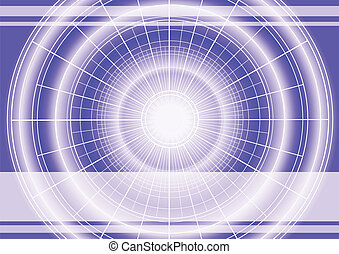 Digital background with radial grid and copy space