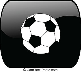 Button with soccer ball