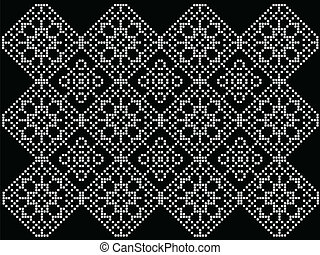 pattern to crochet - Black and white pattern to crochet -...