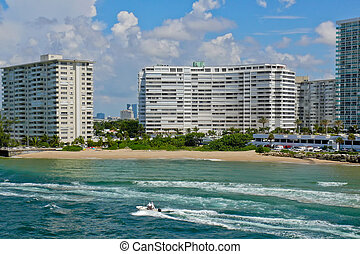Port Everglades Inlet , Fort Lauderdale, Florida - View...