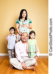 Happy Asian family - A portrait of a happy Asian family