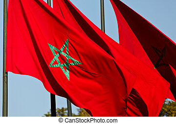 Moroccan national flags