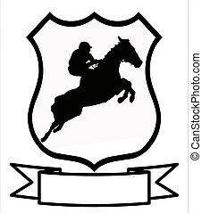Horse Racing or Show Jumping Sport Shield - Horse Racing or...