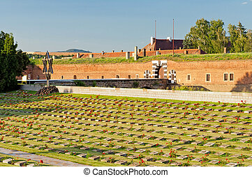 Terezin Fort - Old fort in Terezin, Czech Republic In...