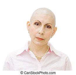 Portrait of cancer patient - Portrait of a beautiful cancer...