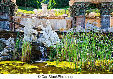 Fountain in Schonbrunn, Vienna, Austria