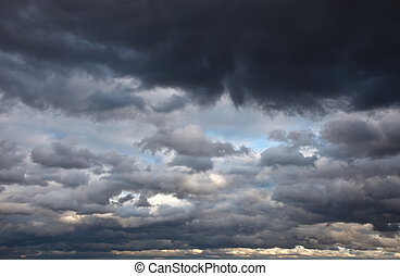 stormy sky - Natural background: dark stormy sky