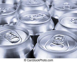 Silver soda cans