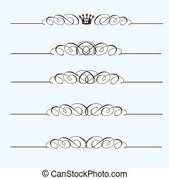 Vector Header Ornament Set. Easy to edit. Perfect for...