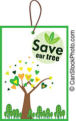 Label - Save our tree icon set