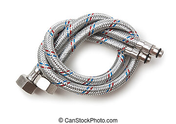 Hoses for water isolate on a white background