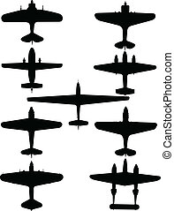 Old Planes Collection - vector
